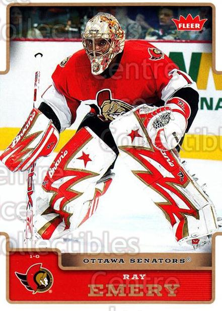2006-07 Fleer #140 Ray Emery<br/>4 In Stock - $1.00 each - <a href=https://centericecollectibles.foxycart.com/cart?name=2006-07%20Fleer%20%23140%20Ray%20Emery...&quantity_max=4&price=$1.00&code=131319 class=foxycart> Buy it now! </a>