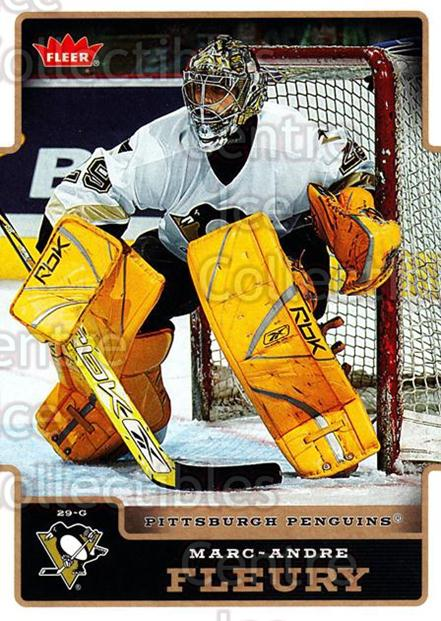 2006-07 Fleer #157 Marc-Andre Fleury<br/>3 In Stock - $2.00 each - <a href=https://centericecollectibles.foxycart.com/cart?name=2006-07%20Fleer%20%23157%20Marc-Andre%20Fleu...&quantity_max=3&price=$2.00&code=131336 class=foxycart> Buy it now! </a>