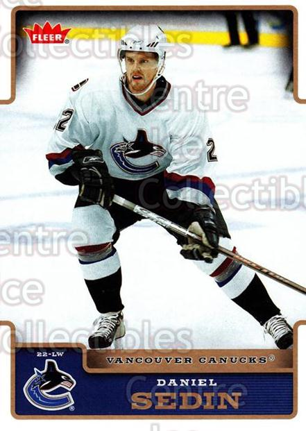 2006-07 Fleer #189 Daniel Sedin<br/>5 In Stock - $1.00 each - <a href=https://centericecollectibles.foxycart.com/cart?name=2006-07%20Fleer%20%23189%20Daniel%20Sedin...&quantity_max=5&price=$1.00&code=131371 class=foxycart> Buy it now! </a>