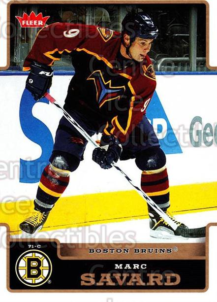 2006-07 Fleer #21 Marc Savard<br/>5 In Stock - $1.00 each - <a href=https://centericecollectibles.foxycart.com/cart?name=2006-07%20Fleer%20%2321%20Marc%20Savard...&quantity_max=5&price=$1.00&code=131392 class=foxycart> Buy it now! </a>