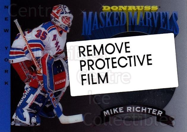 1994-95 Donruss Masked Marvels #8 Mike Richter<br/>2 In Stock - $3.00 each - <a href=https://centericecollectibles.foxycart.com/cart?name=1994-95%20Donruss%20Masked%20Marvels%20%238%20Mike%20Richter...&quantity_max=2&price=$3.00&code=1313 class=foxycart> Buy it now! </a>