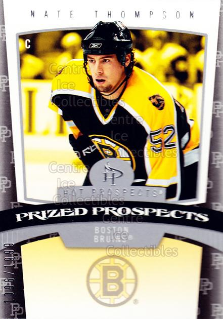 2006-07 Hot Prospects #146 Nate Thompson<br/>3 In Stock - $3.00 each - <a href=https://centericecollectibles.foxycart.com/cart?name=2006-07%20Hot%20Prospects%20%23146%20Nate%20Thompson...&quantity_max=3&price=$3.00&code=131629 class=foxycart> Buy it now! </a>