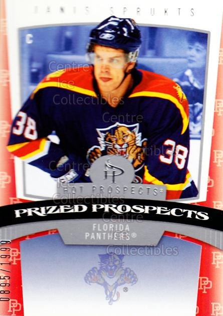 2006-07 Hot Prospects #160 Janis Sprukts<br/>4 In Stock - $3.00 each - <a href=https://centericecollectibles.foxycart.com/cart?name=2006-07%20Hot%20Prospects%20%23160%20Janis%20Sprukts...&quantity_max=4&price=$3.00&code=131645 class=foxycart> Buy it now! </a>