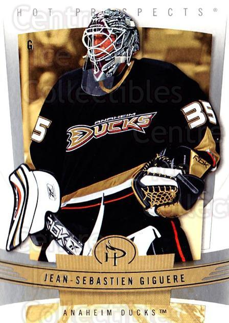 2006-07 Hot Prospects #2 Jean-Sebastien Giguere<br/>5 In Stock - $1.00 each - <a href=https://centericecollectibles.foxycart.com/cart?name=2006-07%20Hot%20Prospects%20%232%20Jean-Sebastien%20...&quantity_max=5&price=$1.00&code=131676 class=foxycart> Buy it now! </a>