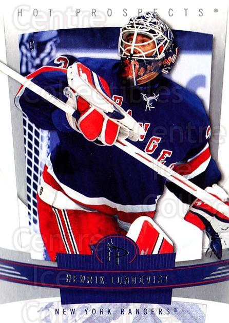 2006-07 Hot Prospects #65 Henrik Lundqvist<br/>5 In Stock - $2.00 each - <a href=https://centericecollectibles.foxycart.com/cart?name=2006-07%20Hot%20Prospects%20%2365%20Henrik%20Lundqvis...&quantity_max=5&price=$2.00&code=131728 class=foxycart> Buy it now! </a>