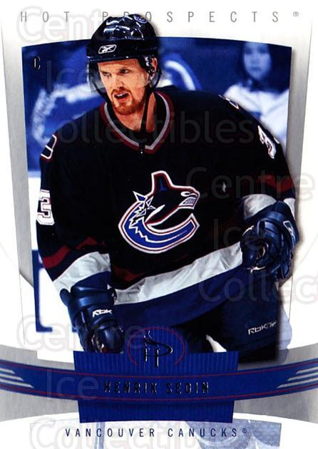 2006-07 Hot Prospects #97 Henrik Sedin<br/>6 In Stock - $2.00 each - <a href=https://centericecollectibles.foxycart.com/cart?name=2006-07%20Hot%20Prospects%20%2397%20Henrik%20Sedin...&quantity_max=6&price=$2.00&code=131761 class=foxycart> Buy it now! </a>