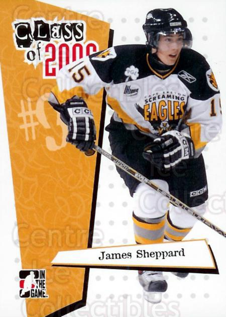2006-07 ITG Heroes and Prospects Class of 2006 #5 James Sheppard<br/>3 In Stock - $3.00 each - <a href=https://centericecollectibles.foxycart.com/cart?name=2006-07%20ITG%20Heroes%20and%20Prospects%20Class%20of%202006%20%235%20James%20Sheppard...&price=$3.00&code=131794 class=foxycart> Buy it now! </a>
