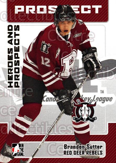 2006-07 ITG Heroes and Prospects #118 Brandon Sutter<br/>13 In Stock - $1.00 each - <a href=https://centericecollectibles.foxycart.com/cart?name=2006-07%20ITG%20Heroes%20and%20Prospects%20%23118%20Brandon%20Sutter...&price=$1.00&code=131820 class=foxycart> Buy it now! </a>