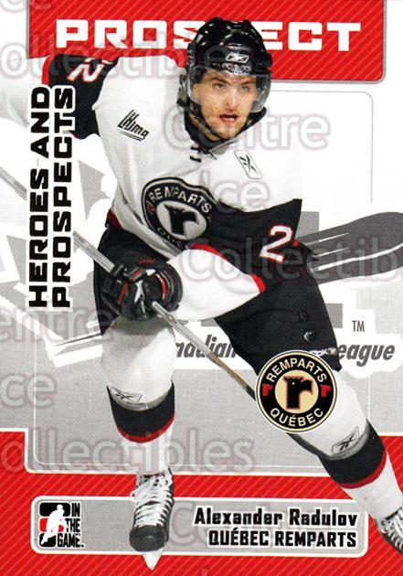2006-07 ITG Heroes and Prospects #125 Alexander Radulov<br/>13 In Stock - $1.00 each - <a href=https://centericecollectibles.foxycart.com/cart?name=2006-07%20ITG%20Heroes%20and%20Prospects%20%23125%20Alexander%20Radul...&price=$1.00&code=131828 class=foxycart> Buy it now! </a>