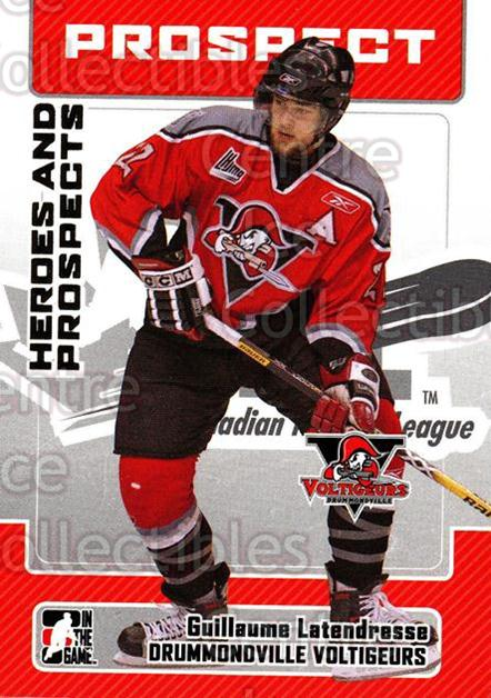2006-07 ITG Heroes and Prospects #126 Guillaume Latendresse<br/>14 In Stock - $1.00 each - <a href=https://centericecollectibles.foxycart.com/cart?name=2006-07%20ITG%20Heroes%20and%20Prospects%20%23126%20Guillaume%20Laten...&price=$1.00&code=131829 class=foxycart> Buy it now! </a>