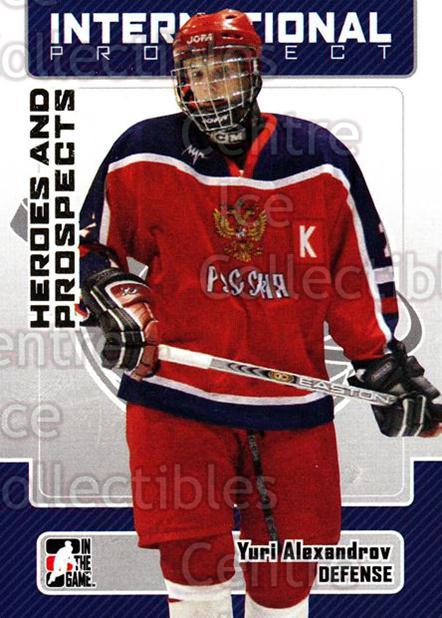 2006-07 ITG Heroes and Prospects #133 Yuri Alexandrov<br/>15 In Stock - $1.00 each - <a href=https://centericecollectibles.foxycart.com/cart?name=2006-07%20ITG%20Heroes%20and%20Prospects%20%23133%20Yuri%20Alexandrov...&price=$1.00&code=131837 class=foxycart> Buy it now! </a>