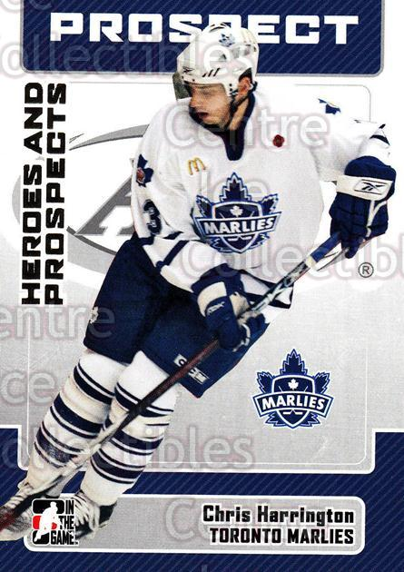2006-07 ITG Heroes and Prospects #152 Chris Harrington<br/>5 In Stock - $1.00 each - <a href=https://centericecollectibles.foxycart.com/cart?name=2006-07%20ITG%20Heroes%20and%20Prospects%20%23152%20Chris%20Harringto...&quantity_max=5&price=$1.00&code=131856 class=foxycart> Buy it now! </a>