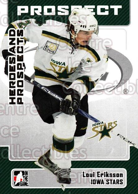 2006-07 ITG Heroes and Prospects #154 Loui Eriksson<br/>5 In Stock - $1.00 each - <a href=https://centericecollectibles.foxycart.com/cart?name=2006-07%20ITG%20Heroes%20and%20Prospects%20%23154%20Loui%20Eriksson...&price=$1.00&code=131858 class=foxycart> Buy it now! </a>