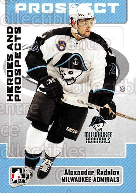 2006-07 ITG Heroes and Prospects #161 Alexander Radulov<br/>1 In Stock - $1.00 each - <a href=https://centericecollectibles.foxycart.com/cart?name=2006-07%20ITG%20Heroes%20and%20Prospects%20%23161%20Alexander%20Radul...&price=$1.00&code=131866 class=foxycart> Buy it now! </a>