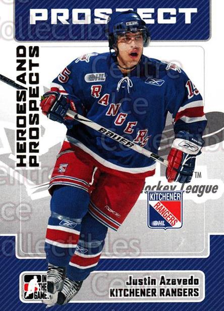 2006-07 ITG Heroes and Prospects #192 Justin Azevedo<br/>1 In Stock - $1.00 each - <a href=https://centericecollectibles.foxycart.com/cart?name=2006-07%20ITG%20Heroes%20and%20Prospects%20%23192%20Justin%20Azevedo...&price=$1.00&code=131893 class=foxycart> Buy it now! </a>