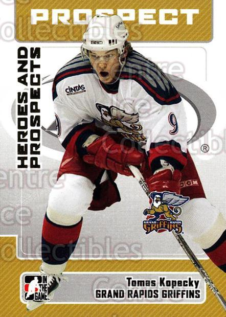 2006-07 ITG Heroes and Prospects #38 Tomas Kopecky<br/>15 In Stock - $1.00 each - <a href=https://centericecollectibles.foxycart.com/cart?name=2006-07%20ITG%20Heroes%20and%20Prospects%20%2338%20Tomas%20Kopecky...&price=$1.00&code=131919 class=foxycart> Buy it now! </a>