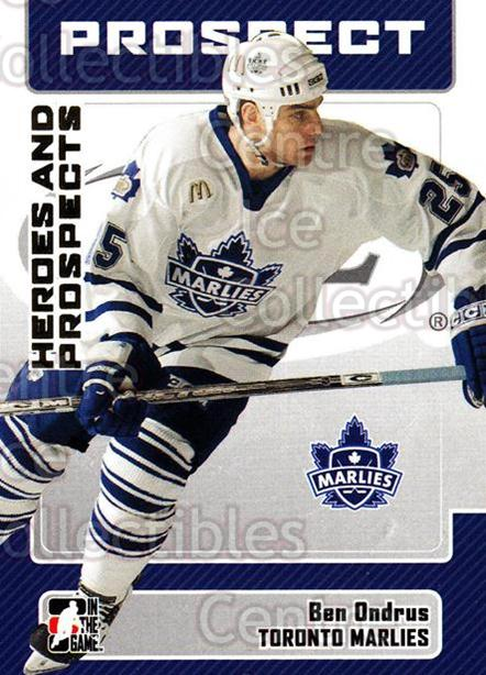2006-07 ITG Heroes and Prospects #39 Ben Ondrus<br/>13 In Stock - $1.00 each - <a href=https://centericecollectibles.foxycart.com/cart?name=2006-07%20ITG%20Heroes%20and%20Prospects%20%2339%20Ben%20Ondrus...&price=$1.00&code=131920 class=foxycart> Buy it now! </a>