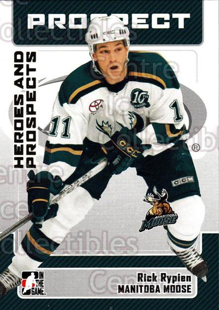 2006-07 ITG Heroes and Prospects #46 Rick Rypien<br/>12 In Stock - $1.00 each - <a href=https://centericecollectibles.foxycart.com/cart?name=2006-07%20ITG%20Heroes%20and%20Prospects%20%2346%20Rick%20Rypien...&quantity_max=12&price=$1.00&code=131928 class=foxycart> Buy it now! </a>