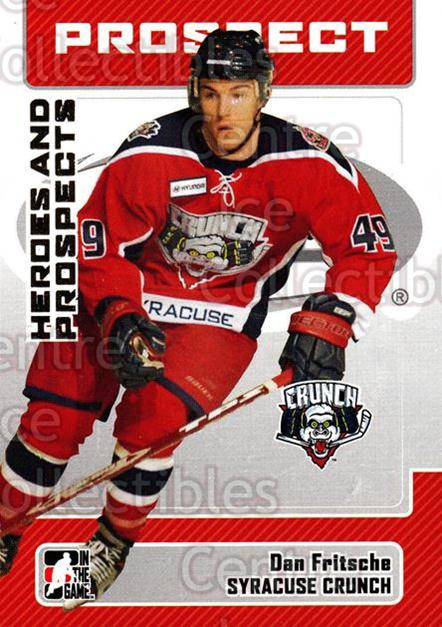 2006-07 ITG Heroes and Prospects #55 Dan Fritsche<br/>12 In Stock - $1.00 each - <a href=https://centericecollectibles.foxycart.com/cart?name=2006-07%20ITG%20Heroes%20and%20Prospects%20%2355%20Dan%20Fritsche...&price=$1.00&code=131938 class=foxycart> Buy it now! </a>