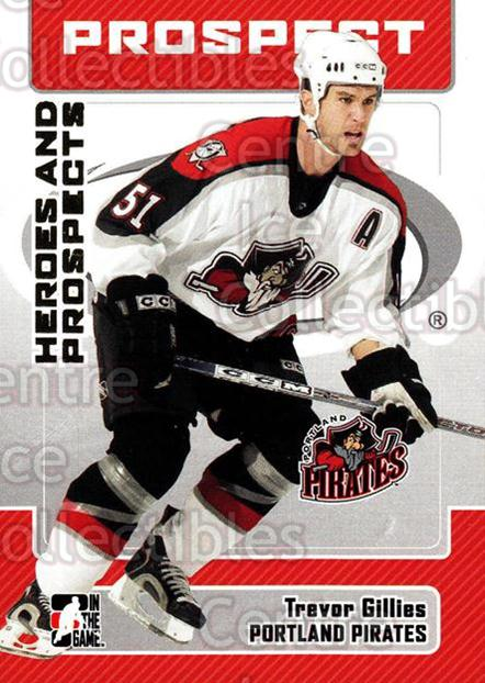 2006-07 ITG Heroes and Prospects #62 Trevor Gillies<br/>8 In Stock - $1.00 each - <a href=https://centericecollectibles.foxycart.com/cart?name=2006-07%20ITG%20Heroes%20and%20Prospects%20%2362%20Trevor%20Gillies...&price=$1.00&code=131946 class=foxycart> Buy it now! </a>
