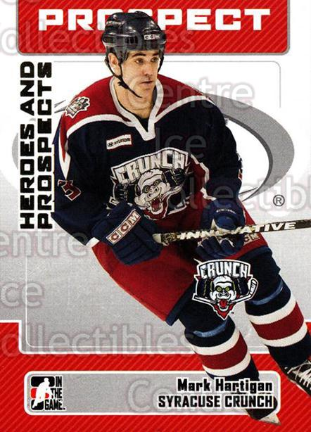 2006-07 ITG Heroes and Prospects #63 Mark Hartigan<br/>14 In Stock - $1.00 each - <a href=https://centericecollectibles.foxycart.com/cart?name=2006-07%20ITG%20Heroes%20and%20Prospects%20%2363%20Mark%20Hartigan...&price=$1.00&code=131947 class=foxycart> Buy it now! </a>