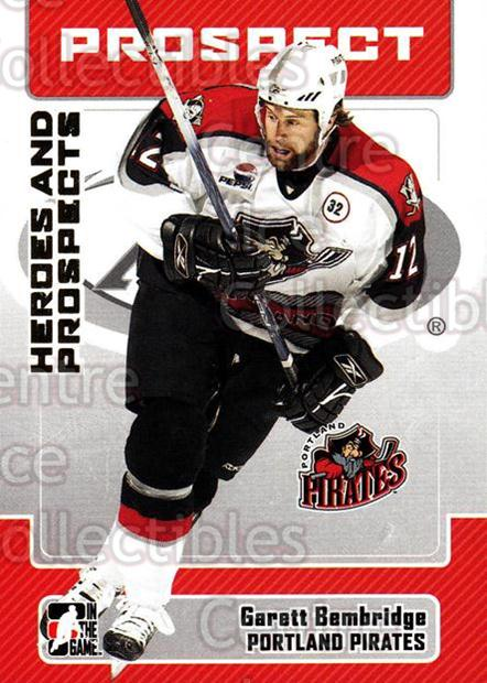 2006-07 ITG Heroes and Prospects #64 Garett Bembridge<br/>12 In Stock - $1.00 each - <a href=https://centericecollectibles.foxycart.com/cart?name=2006-07%20ITG%20Heroes%20and%20Prospects%20%2364%20Garett%20Bembridg...&quantity_max=12&price=$1.00&code=131948 class=foxycart> Buy it now! </a>