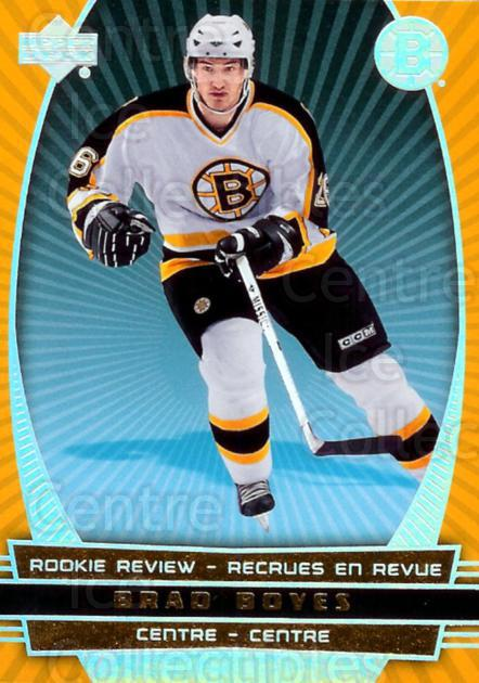 2006-07 McDonalds Upper Deck Rookie Review #13 Brad Boyes<br/>2 In Stock - $2.00 each - <a href=https://centericecollectibles.foxycart.com/cart?name=2006-07%20McDonalds%20Upper%20Deck%20Rookie%20Review%20%2313%20Brad%20Boyes...&quantity_max=2&price=$2.00&code=132053 class=foxycart> Buy it now! </a>