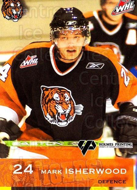 2006-07 Medicine Hat Tigers #12 Mark Isherwood<br/>1 In Stock - $3.00 each - <a href=https://centericecollectibles.foxycart.com/cart?name=2006-07%20Medicine%20Hat%20Tigers%20%2312%20Mark%20Isherwood...&quantity_max=1&price=$3.00&code=132115 class=foxycart> Buy it now! </a>