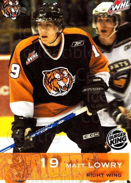 2006-07 Medicine Hat Tigers #14 Matt Lowry<br/>1 In Stock - $3.00 each - <a href=https://centericecollectibles.foxycart.com/cart?name=2006-07%20Medicine%20Hat%20Tigers%20%2314%20Matt%20Lowry...&quantity_max=1&price=$3.00&code=132116 class=foxycart> Buy it now! </a>