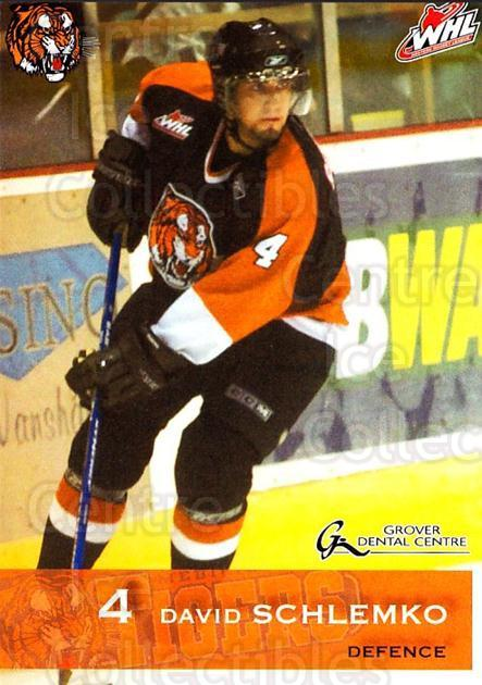2006-07 Medicine Hat Tigers #19 David Schlemko<br/>1 In Stock - $3.00 each - <a href=https://centericecollectibles.foxycart.com/cart?name=2006-07%20Medicine%20Hat%20Tigers%20%2319%20David%20Schlemko...&quantity_max=1&price=$3.00&code=132120 class=foxycart> Buy it now! </a>