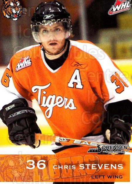2006-07 Medicine Hat Tigers #20 Chris Stevens<br/>2 In Stock - $3.00 each - <a href=https://centericecollectibles.foxycart.com/cart?name=2006-07%20Medicine%20Hat%20Tigers%20%2320%20Chris%20Stevens...&quantity_max=2&price=$3.00&code=132121 class=foxycart> Buy it now! </a>