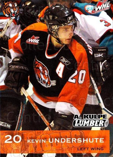 2006-07 Medicine Hat Tigers #23 Kevin Undershute<br/>1 In Stock - $3.00 each - <a href=https://centericecollectibles.foxycart.com/cart?name=2006-07%20Medicine%20Hat%20Tigers%20%2323%20Kevin%20Undershut...&quantity_max=1&price=$3.00&code=132123 class=foxycart> Buy it now! </a>