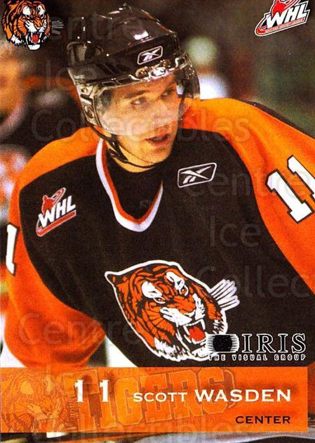 2006-07 Medicine Hat Tigers #24 Scott Wasden<br/>1 In Stock - $3.00 each - <a href=https://centericecollectibles.foxycart.com/cart?name=2006-07%20Medicine%20Hat%20Tigers%20%2324%20Scott%20Wasden...&quantity_max=1&price=$3.00&code=132124 class=foxycart> Buy it now! </a>