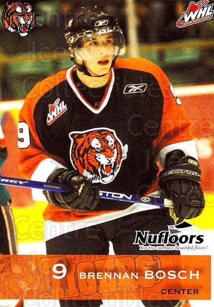 2006-07 Medicine Hat Tigers #3 Brennan Bosch<br/>1 In Stock - $3.00 each - <a href=https://centericecollectibles.foxycart.com/cart?name=2006-07%20Medicine%20Hat%20Tigers%20%233%20Brennan%20Bosch...&quantity_max=1&price=$3.00&code=132126 class=foxycart> Buy it now! </a>
