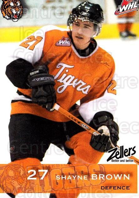2006-07 Medicine Hat Tigers #4 Shayne Brown<br/>1 In Stock - $3.00 each - <a href=https://centericecollectibles.foxycart.com/cart?name=2006-07%20Medicine%20Hat%20Tigers%20%234%20Shayne%20Brown...&quantity_max=1&price=$3.00&code=132127 class=foxycart> Buy it now! </a>