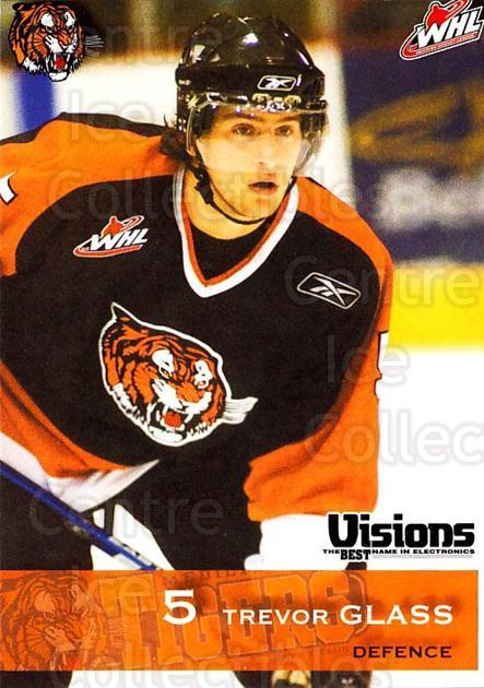 2006-07 Medicine Hat Tigers #7 Trevor Glass<br/>1 In Stock - $3.00 each - <a href=https://centericecollectibles.foxycart.com/cart?name=2006-07%20Medicine%20Hat%20Tigers%20%237%20Trevor%20Glass...&quantity_max=1&price=$3.00&code=132128 class=foxycart> Buy it now! </a>