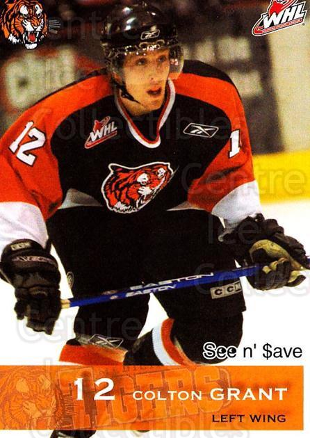 2006-07 Medicine Hat Tigers #8 Colton Grant<br/>2 In Stock - $3.00 each - <a href=https://centericecollectibles.foxycart.com/cart?name=2006-07%20Medicine%20Hat%20Tigers%20%238%20Colton%20Grant...&quantity_max=2&price=$3.00&code=132129 class=foxycart> Buy it now! </a>
