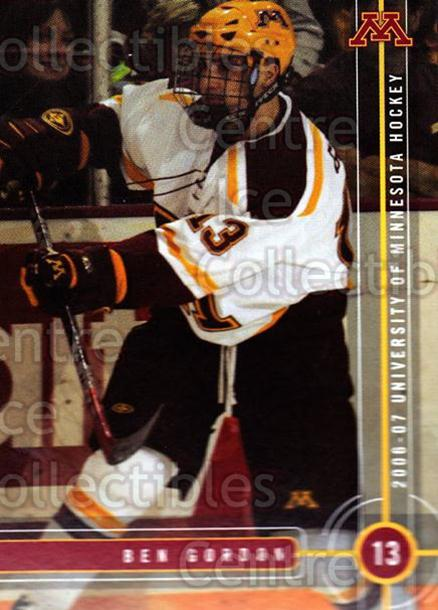 2006-07 Minnesota Golden Gophers #10 Ben Gordon<br/>7 In Stock - $3.00 each - <a href=https://centericecollectibles.foxycart.com/cart?name=2006-07%20Minnesota%20Golden%20Gophers%20%2310%20Ben%20Gordon...&quantity_max=7&price=$3.00&code=132131 class=foxycart> Buy it now! </a>