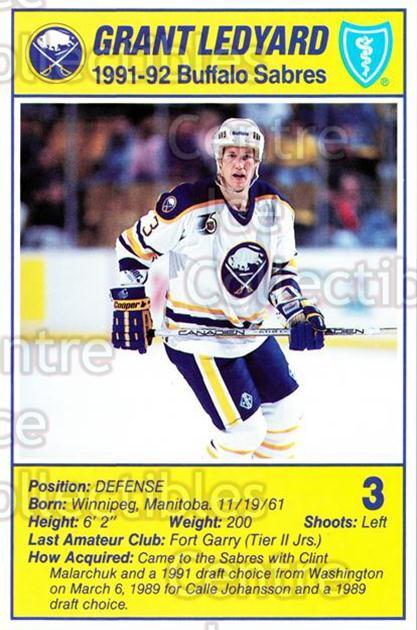 Hockey Card Grant Ledyard Buffalo Sabres 1991-92 Parkhurst # 241 NM//MT