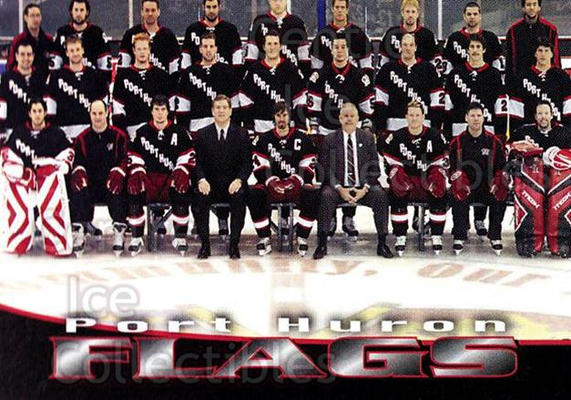 2006-07 Port Huron Flags #1 Team Photo<br/>11 In Stock - $2.00 each - <a href=https://centericecollectibles.foxycart.com/cart?name=2006-07%20Port%20Huron%20Flags%20%231%20Team%20Photo...&price=$2.00&code=132667 class=foxycart> Buy it now! </a>