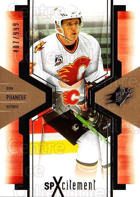 2006-07 SPx SPxcitement #18 Dion Phaneuf<br/>2 In Stock - $3.00 each - <a href=https://centericecollectibles.foxycart.com/cart?name=2006-07%20SPx%20SPxcitement%20%2318%20Dion%20Phaneuf...&price=$3.00&code=132869 class=foxycart> Buy it now! </a>