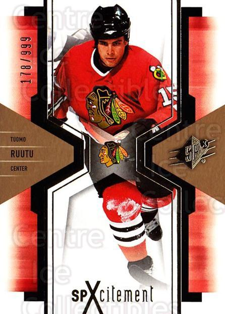 2006-07 SPx SPxcitement #21 Tuomo Ruutu<br/>1 In Stock - $3.00 each - <a href=https://centericecollectibles.foxycart.com/cart?name=2006-07%20SPx%20SPxcitement%20%2321%20Tuomo%20Ruutu...&quantity_max=1&price=$3.00&code=132871 class=foxycart> Buy it now! </a>