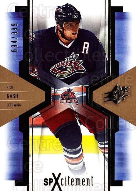 2006-07 SPx SPxcitement #26 Rick Nash<br/>5 In Stock - $3.00 each - <a href=https://centericecollectibles.foxycart.com/cart?name=2006-07%20SPx%20SPxcitement%20%2326%20Rick%20Nash...&quantity_max=5&price=$3.00&code=132874 class=foxycart> Buy it now! </a>