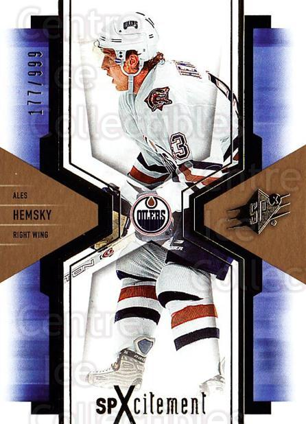 2006-07 SPx SPxcitement #40 Ales Hemsky<br/>2 In Stock - $3.00 each - <a href=https://centericecollectibles.foxycart.com/cart?name=2006-07%20SPx%20SPxcitement%20%2340%20Ales%20Hemsky...&quantity_max=2&price=$3.00&code=132882 class=foxycart> Buy it now! </a>