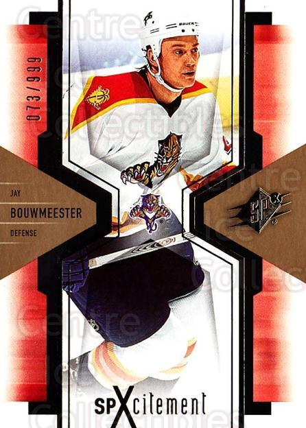 2006-07 SPx SPxcitement #42 Jay Bouwmeester<br/>5 In Stock - $3.00 each - <a href=https://centericecollectibles.foxycart.com/cart?name=2006-07%20SPx%20SPxcitement%20%2342%20Jay%20Bouwmeester...&quantity_max=5&price=$3.00&code=132884 class=foxycart> Buy it now! </a>