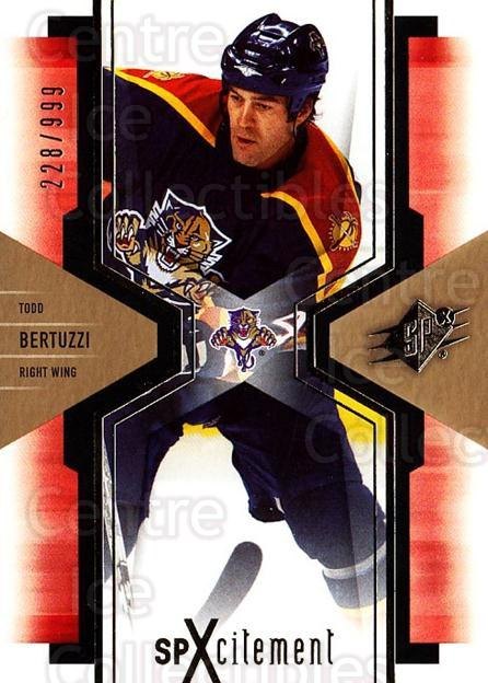 2006-07 SPx SPxcitement #45 Todd Bertuzzi<br/>2 In Stock - $3.00 each - <a href=https://centericecollectibles.foxycart.com/cart?name=2006-07%20SPx%20SPxcitement%20%2345%20Todd%20Bertuzzi...&quantity_max=2&price=$3.00&code=132887 class=foxycart> Buy it now! </a>
