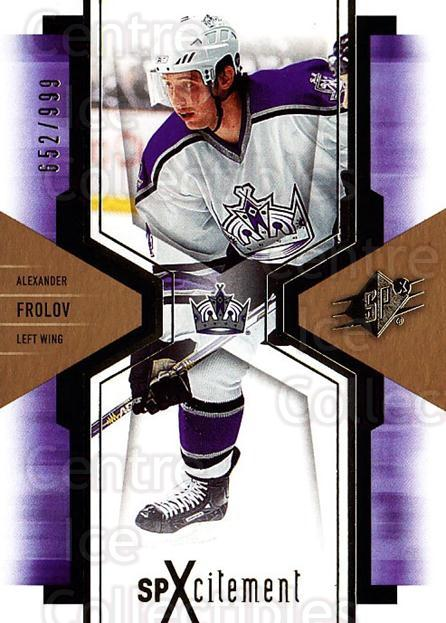 2006-07 SPx SPxcitement #47 Alexander Frolov<br/>3 In Stock - $3.00 each - <a href=https://centericecollectibles.foxycart.com/cart?name=2006-07%20SPx%20SPxcitement%20%2347%20Alexander%20Frolo...&quantity_max=3&price=$3.00&code=132889 class=foxycart> Buy it now! </a>