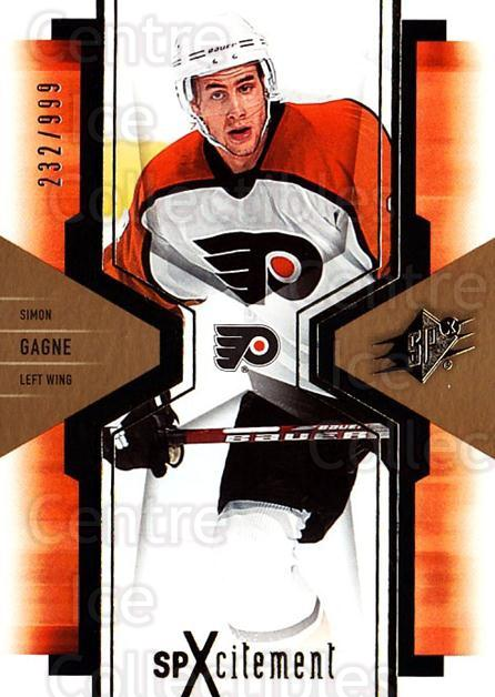 2006-07 SPx SPxcitement #74 Simon Gagne<br/>3 In Stock - $3.00 each - <a href=https://centericecollectibles.foxycart.com/cart?name=2006-07%20SPx%20SPxcitement%20%2374%20Simon%20Gagne...&quantity_max=3&price=$3.00&code=132906 class=foxycart> Buy it now! </a>