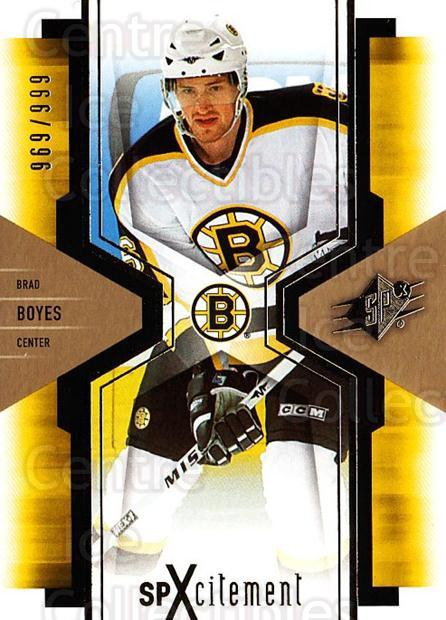 2006-07 SPx SPxcitement #9 Brad Boyes<br/>3 In Stock - $3.00 each - <a href=https://centericecollectibles.foxycart.com/cart?name=2006-07%20SPx%20SPxcitement%20%239%20Brad%20Boyes...&quantity_max=3&price=$3.00&code=132914 class=foxycart> Buy it now! </a>
