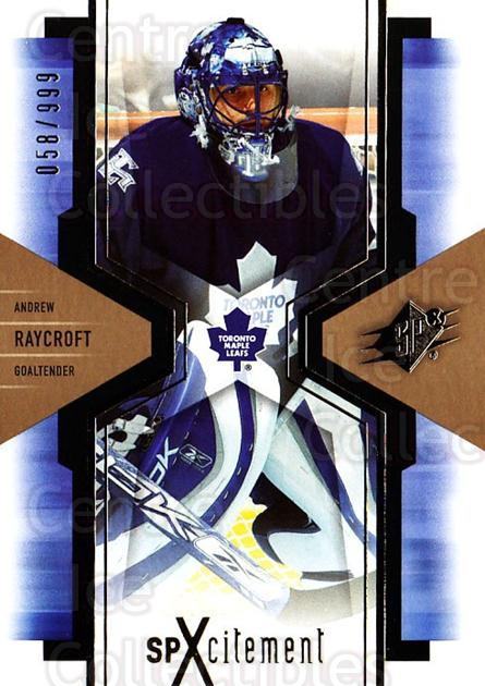 2006-07 SPx SPxcitement #94 Andrew Raycroft<br/>3 In Stock - $3.00 each - <a href=https://centericecollectibles.foxycart.com/cart?name=2006-07%20SPx%20SPxcitement%20%2394%20Andrew%20Raycroft...&quantity_max=3&price=$3.00&code=132919 class=foxycart> Buy it now! </a>
